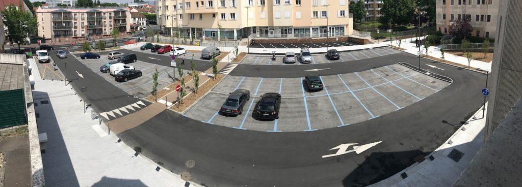 Stationnement sur le parking de la place du marché Bretten