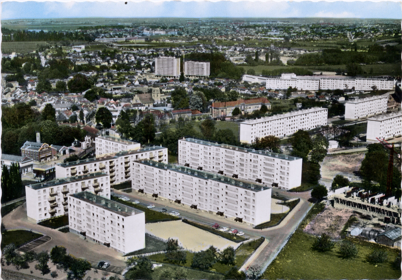 Archive de Longjumeau, vue du ciel