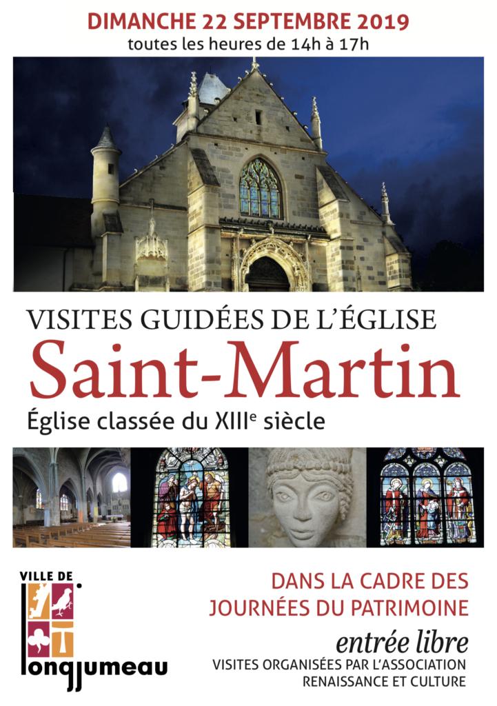 Affiche Journées Patrimoine, église de Longjumeau