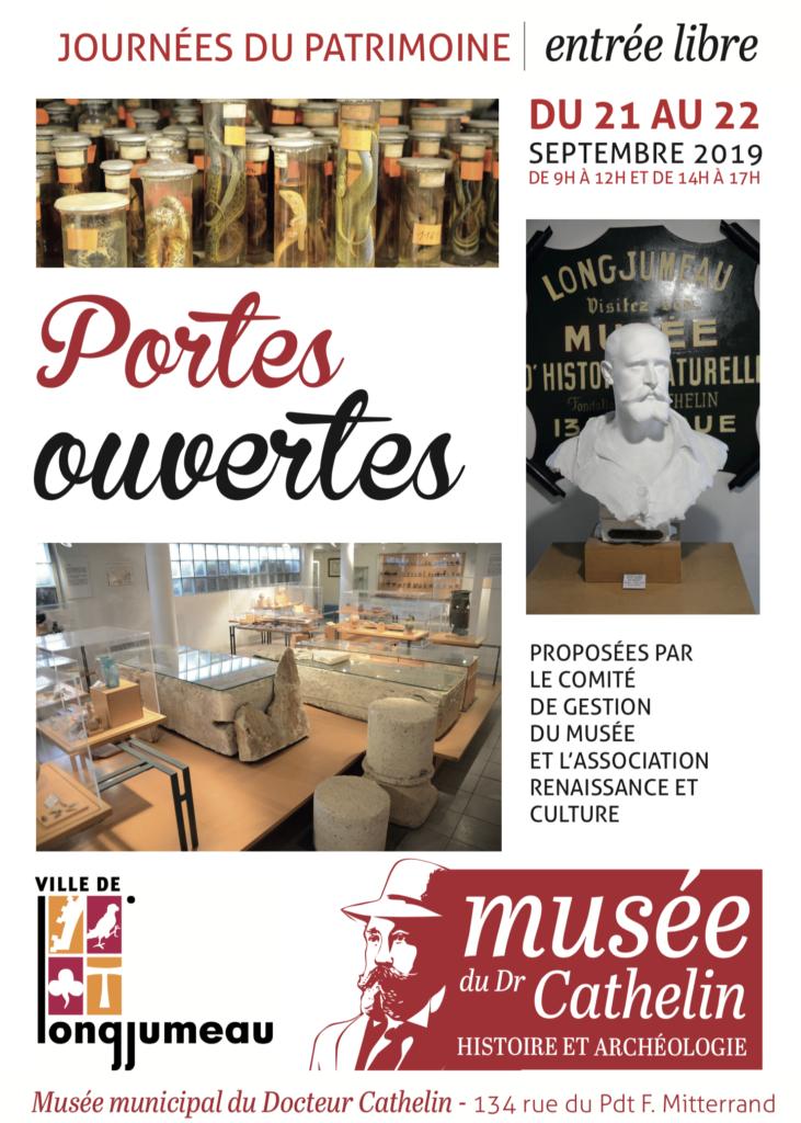 Affiche portes ouvertes du musée municipal