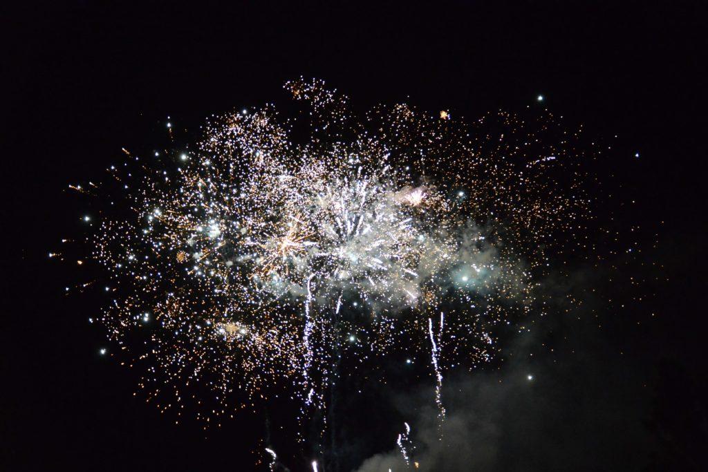 Le feu d'artifice de la 2e Fête de la Ville de Longjumeau
