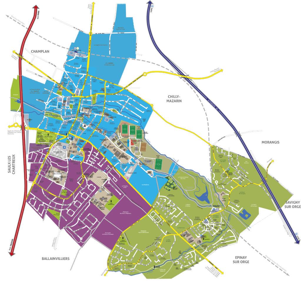 Plan de Longjumeau