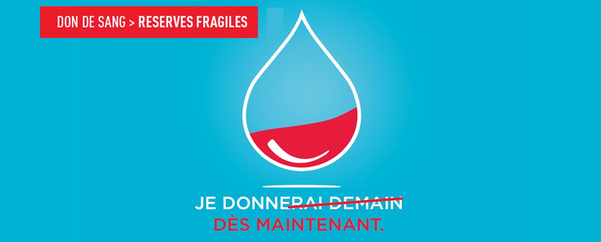 Opération don du sang avec l'établissement français du sang