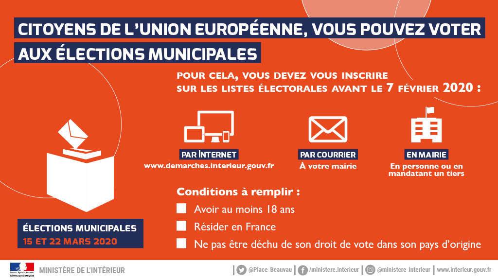 Élections municipales 2020 : inscriptions 5