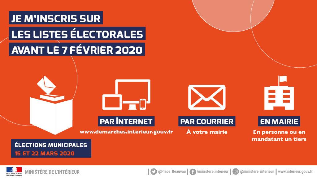 Élections municipales 2020 : inscriptions 3